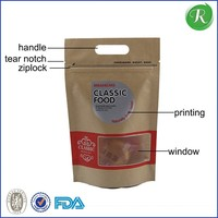 food plastic stand up zipper bag for beef jerky