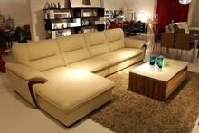 2015 china wholesale living room elegant couch luxury sofa leather corner sofa model J868