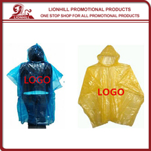 Hot Selling Disposable Waterproof Transparent Plastic Raincoat