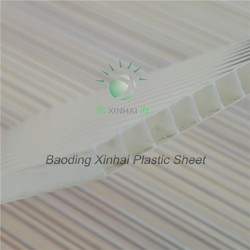 4/5/6/8/10mm UV coating 10 years warranty plastic solar panels roofing sheets twin-wall polycarbonate hollow sheet