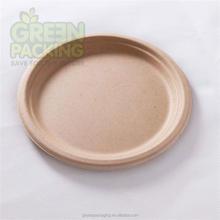 Sugar cane fiber unbleached biodegradable plates/disposable plates/ disposable food plates