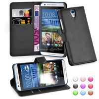 Lichee Wallet Flip Leather Case Cover For HTC Desire 620