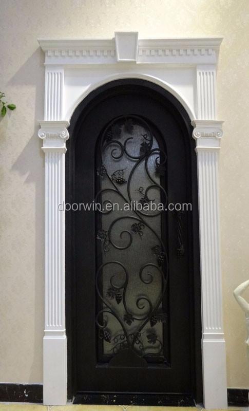 Arch top double grille en fer forg porte de fer porte d 39 entr e portes id de produit 60447649388 for Porte entree solde