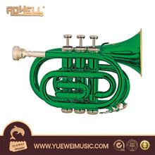 Colorful Pocket Trumpet wind instrument