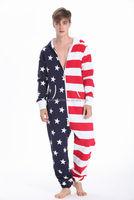 adult rompers onesie jumpsuit US American flag custom adult onesie