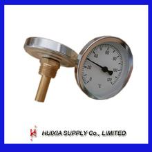 Venta caliente de temperatura bimetálico termómetro de medición 0-120C