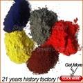 Melhor preço 95% óxido de ferro vermelho amarelo preto de cerâmica em pó para pintura / pavimentação / de concreto / tijolos / colorido asfalto
