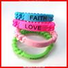 FAITH-HOPE-LOVE silicone bracelet for Charity Event (MYD-1049)