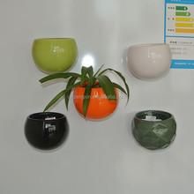 New design ceramic flower pot shape magnet fridge magnets creative grow flowers for home deco promotional gifts
