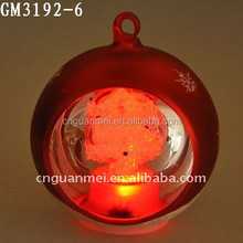 decorative hotsell fashion ball christmas glass transparent with led light