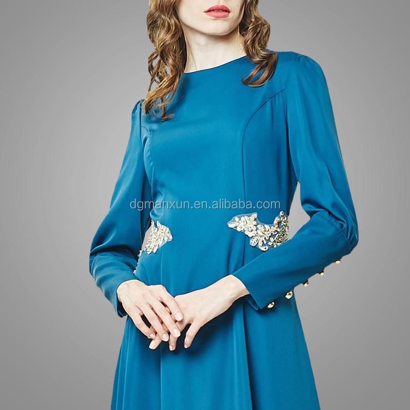 2017 Fashion muslim evening dresses lace applique islamic abayas modest turkey women dress (4).jpg