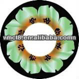 Crystal flower magic pattern green color contact lens contact lens case wholesale