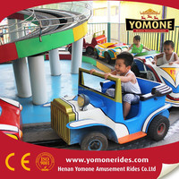 wonderful games for kids! Yomone small track rides mini roller coaster Luxury interchange cars