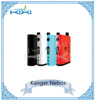 2015 dry herb vaporizer mod Kanger Nebox with black blue red white NEBOX 60W TC put tank and mod together