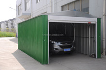 low price good quality prefabricated garage of gable roof