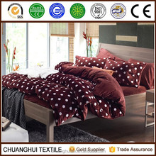 2015 NEW PRODUCT Super soft Velvet two sides comforter printed bedding set