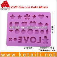 2015 Kitchen Utensil Chocolate Moulds Baking Mats Silicone Molds For Cake Decorating Cake Pan Tools