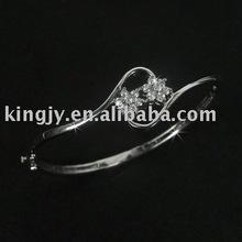 925 pulseira de prata feito com imitação de diamante