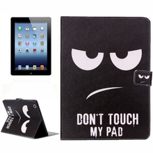 In Stock flip leather smart case for ipad 4 for wholesales