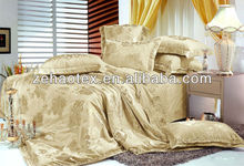Funky gold king size polyester/cotton damask set bed.10pcs