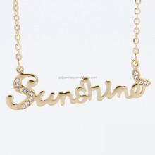 Adjustable silver gold rose gold SUNSHINE necklace jewellery
