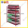 Caliente personalizado- hechos de alambre de metal botella de un litro góndolas/mostradores/expositores para beber