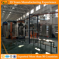 Electrical cabinets electrostatic powder spray painting system