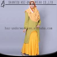 MDA015 Islamic abaya Muslim fashion long sleeve plus size clothing wholesale ladies casual dress women burqa gamis