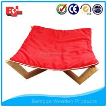 Handmade luxury bamboo wooden pet dog beds
