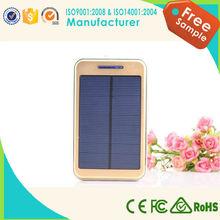 2015 new design ultra slim solar power bank, ultra slim 8000mah power bank for mobile