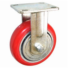 Direct factory 4 inch PU wholesaler light duty caster wheel for industrial usage