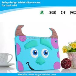 2015 new style silicon rubber case for iPad mini sulley design case