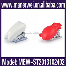 Promotional gift student office used colorful saddle types of absorbable stapler
