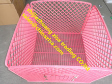 large PINK plastic dog kennels with door cheap price made in china