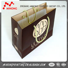 Fashion custom printing luxury kraft paper shopping bag