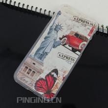 Estatua de la libertad recuerdo personalizado venta al por mayor impreso caso para el Iphone 6