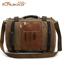 Wholesale price canvas leather vintage Duffel Bags travelling Bags FH09