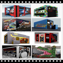 Hot Sale 3d 4d 5d 6d 7d Simulator Motion Truck Mobile 5d cinema