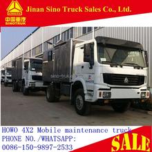 HOWO 4X4 Mobile workshop truck/maintenance truck