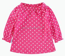 Adorable Dot Tops ,Kids T-shirt; Children's Wear