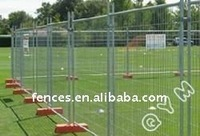 galvanized mesh filled portable industrial fence