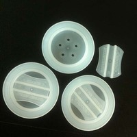 White plastic one way valve for pet food packing bags