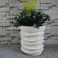 Flower Pot Handmake Unique Fiberglass Indoor Planter Decoration