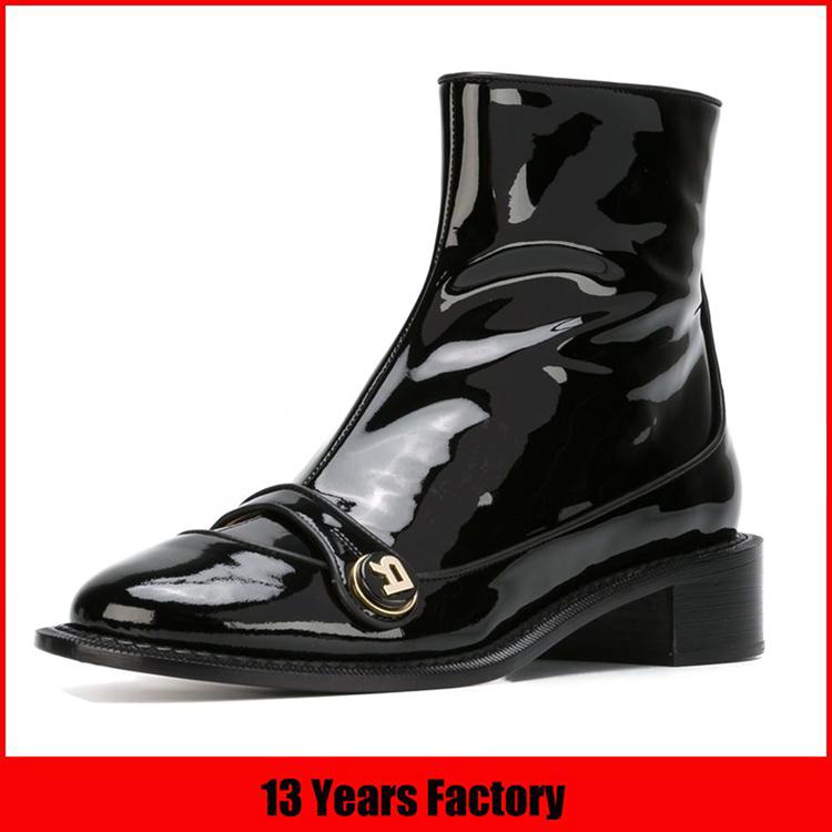 2017 high heel middle ladies leather boot girl half boot