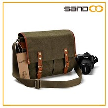 High quality hot selling canvas outdoor retro vintage camera bag