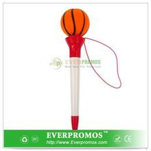 Novelty Design Pop Top Pen - Basketball For Fun