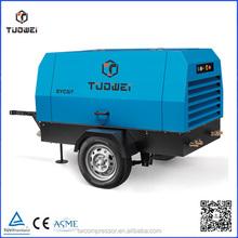 Multi stage high volume speed diesel portable air compressor