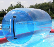 Fun blue inflatable rolling ball for kids
