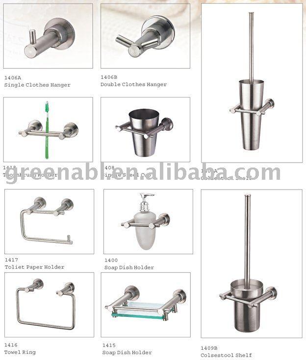 Set De Baño Acero Inoxidable:De acero inoxidable accesorios de baño-Sets de Bañera