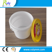 Small plastic bucket with lid custom logo for candy, honey,ice cream and jam,